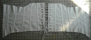 corset laid out
